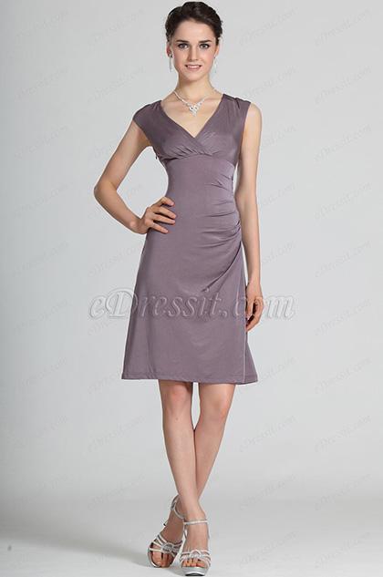 eDressit V-Cut Party Dress Day Dress (03121006)