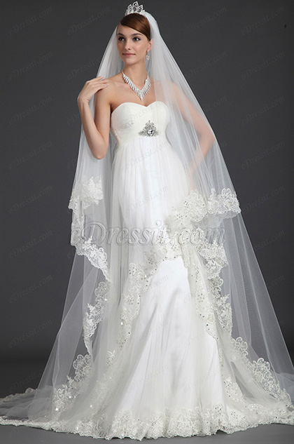 eDressit Escote de Cariño Decorado Vestido de Boda Vestido de Novia (01121107)