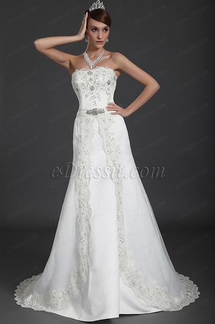 eDressit 2012 новое удивительное свадебное платье без бретелек  с  бисером (01120507)