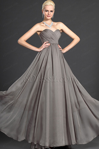 eDressit Aschfarben Herz-Ausschnitt Trägerlos Abendkleid (W00124608)