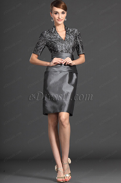 eDressit Elegant Lace Grey Mother of the Bride Dresses (26121208)