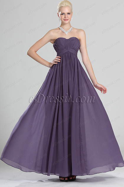 eDressit Sweetheart Neckline Strapless Purple Evening Dress (00123206)
