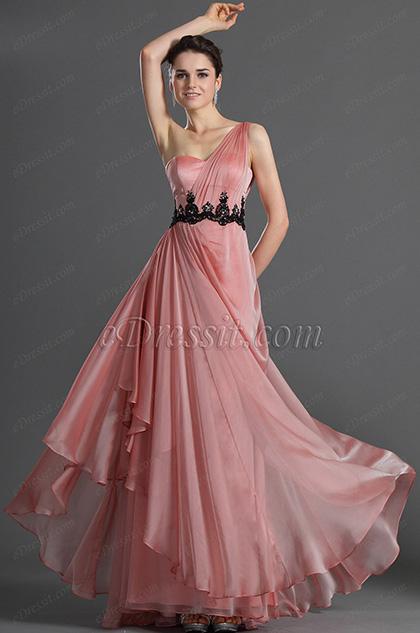 eDressit Bretelle Seule Rose Robe de Soiré (00122101)
