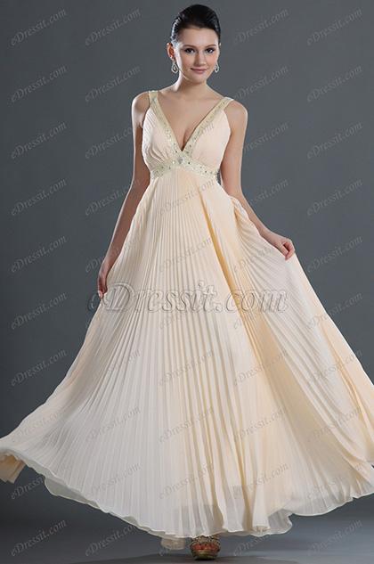 eDressit Tief V-Ausschnitt Elegant Abendkleid (36120414)