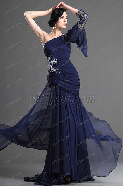 eDressit очаровательное  темно-синее вечернее платье (02122005)