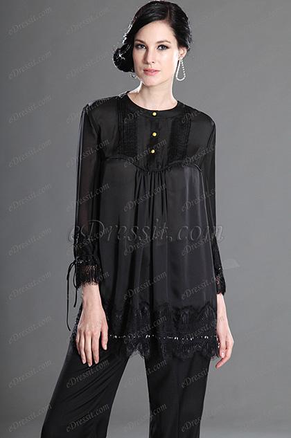 eDressit 2012 новый жакет  черный с длинными рукавами  носить на работу (03124100)