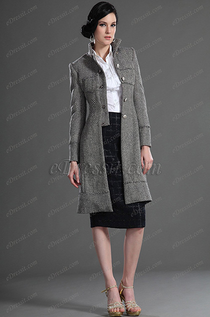 eDressit Fashion Long Jacket With Sleeves Day Coat (03122908)