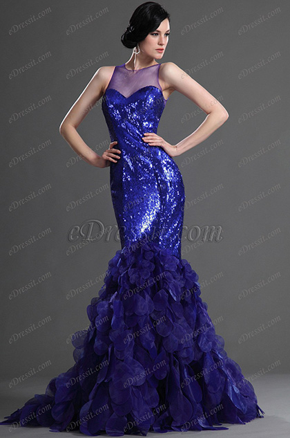 eDressit Gorgeous Blue Evening Dress Prom Gown (02122305)
