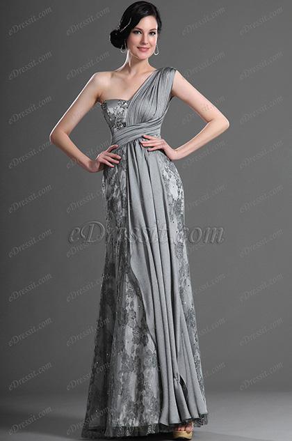 eDressit серое вечернее платье (00121208)