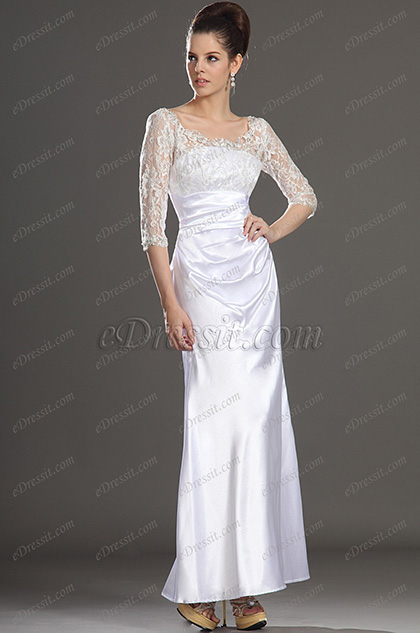 Clearance Sale! eDressit Mother of the Bride Dress in white (26121800D)