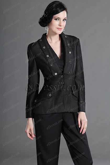 eDressit Designed with Fashion Lapel Wear to Work Jacket (03122800)