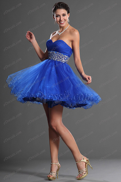 eDressit Sweetheart Blue Party Dress (35120105)