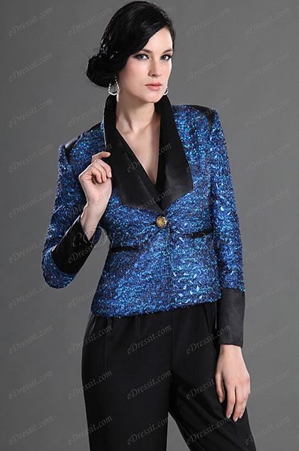 eDressit 2012 Neuvo Azul Chaqueta de Trabajo  de Moda (03122405)