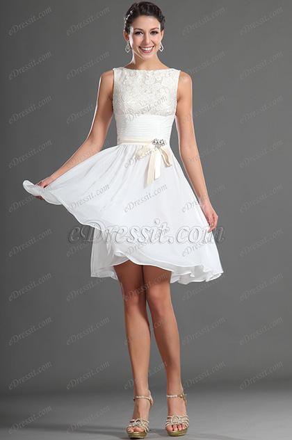 Vestido blanco de cocktail