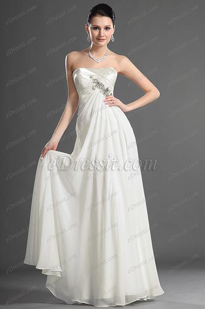 eDressit 2012 новое очаровательноевечернее платье/ свадебное платье без бретелек (01121207)