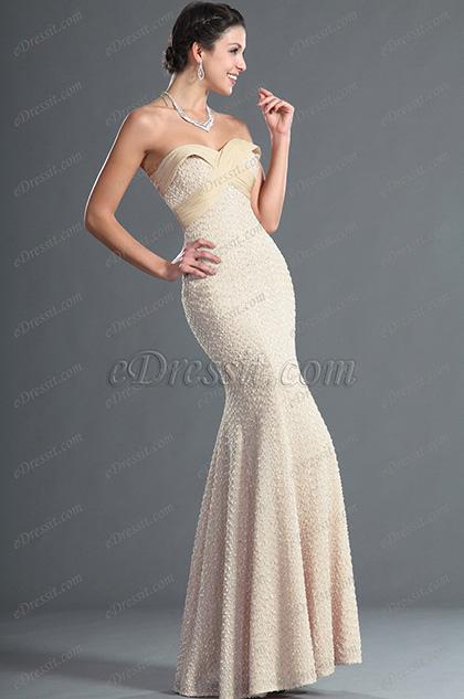 eDressit Maravilloso Sin Tirante Escote de Cariño Vestido de Noche (02122714)