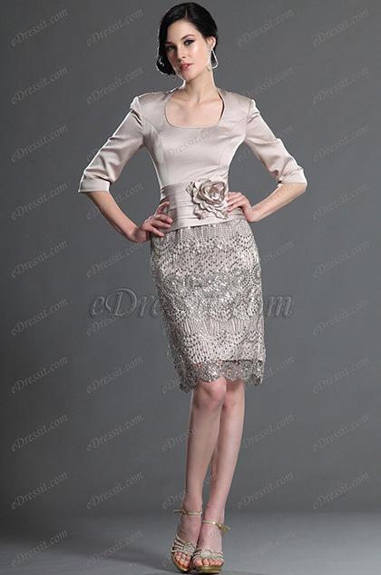 eDressit 2012 Nuevo Elegante con Mangas Vestido de Honor para Dama (26125814)