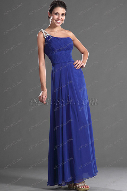 eDressit Grogeous Blue One Shoulder Long Evening Dress (36121105)