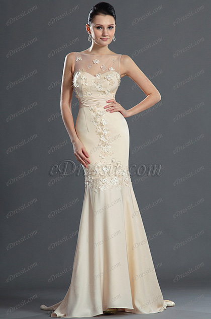 eDressit Elegant Mermaid Flower Evening Dress (02120114)