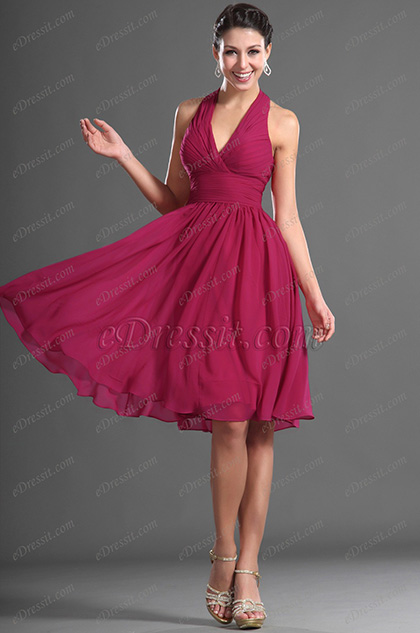 eDressit Simple Halter Party Dress Cocktail Dress (04124712)