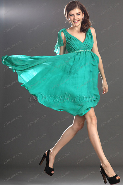 eDressit New Lovely Sleeveless Green Cocktail Dress Party Dress (04131804)