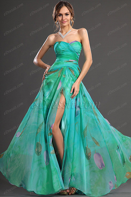 eDressit New Elegent High split Printed Fabric Evening Dress (00129568)