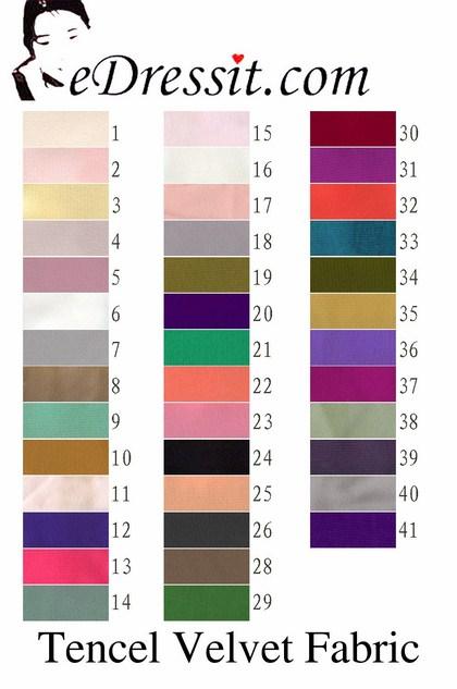 eDressit натуральная шёлковая и бархатная ткань (60130101)