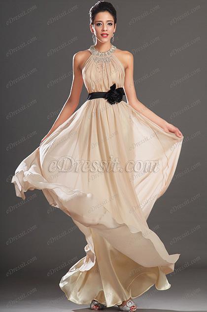 eDressit New Gorgeous Beading Neckline Halter Evening Dress (00133614)