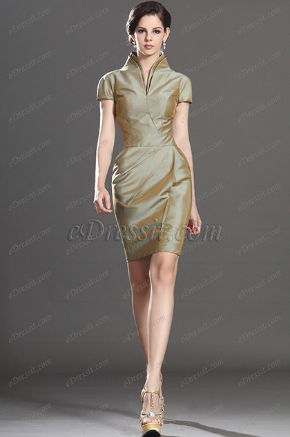 eDressit Stylish Short Sleeves Mother of the Bride Dress (26130304)