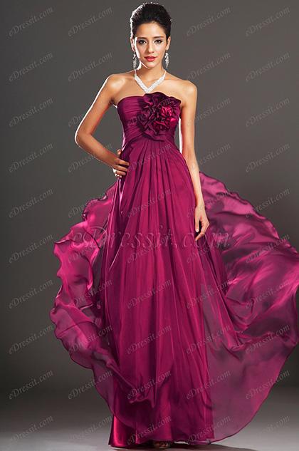 eDressit Nouveautés Jolie Bustier avec Fleurs Robe de Soirée (00134012)