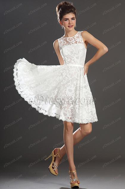 eDressit Новые поступления  Прекрасное коктейльное белое платье (04130207)
