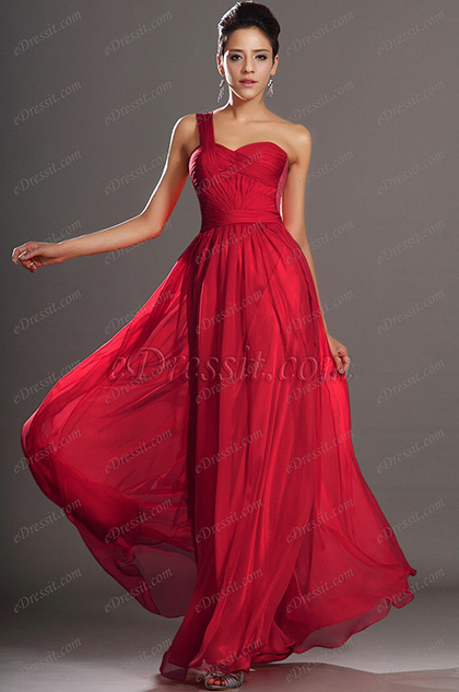 New Arrival Gorgeous One shoulder Evening Dress