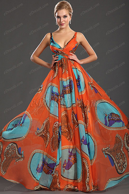 eDressit Wundervoll V-Ausschnitt Abendkleid (00120868)