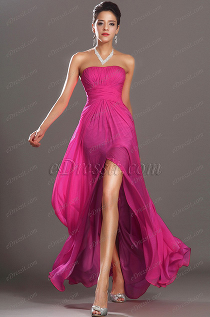 eDressit Eye-catching Strapless Fuchsia Long Evening Dress (00134512)