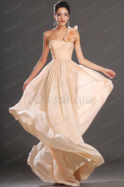 eDressit  Maravilloso Solo Hombro Vestido de Dama de Honor (07130301)