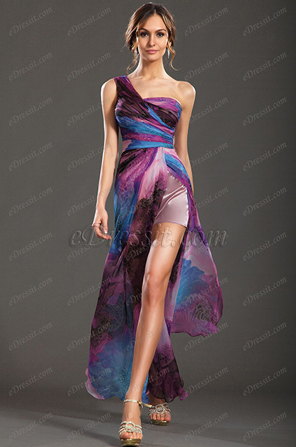 eDressit New Gorgeous Printed One Shoulder Evening Dress (00131268)