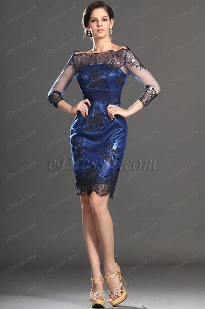 eDressit новое платье для мамы невесты с черными кружевами (26130405)