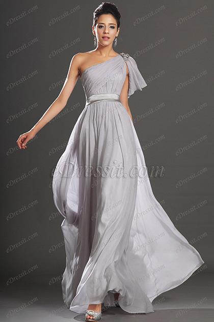 eDressit New Gorgeous One Shoulder with Silver Decoration Evening Dress (00132708)