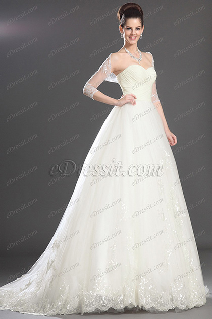 eDressit Marvelous Strapless Wedding Gown (01130507)