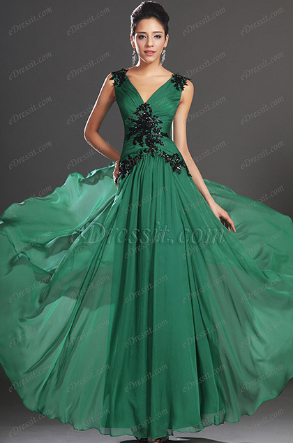 New Arrivals Sexy V-Neck and Back Fabulous Evening Dress