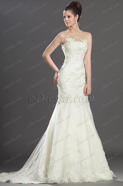 eDressit  очаровательное безрукавное свадебное платье (01130307)