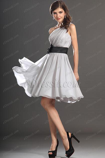 428ec46c4dc eDressit New Gorgeous One shoulder Light Grey Cocktail Dress Party Dress  (04131608)