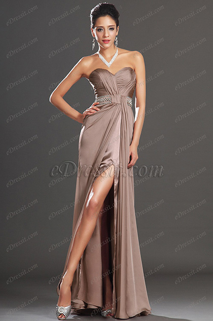 eDressit New Charming Sweety Heart Neckline High Split Evening Dress (00135546)