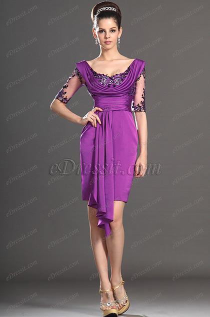 eDressit Artikel Stillvoll Kurz Ärmel Brautmutter Kleid (26130912)