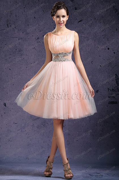 eDressit New Glamouring Sleeveless Peach Cocktail Dress (04133501)