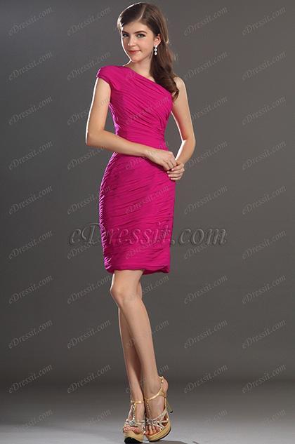 eDressit новое простое коктейльное платье одна бретелька (04131112)