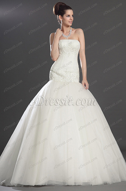eDressit Fantastic Strapless Wedding Dress (01130607)