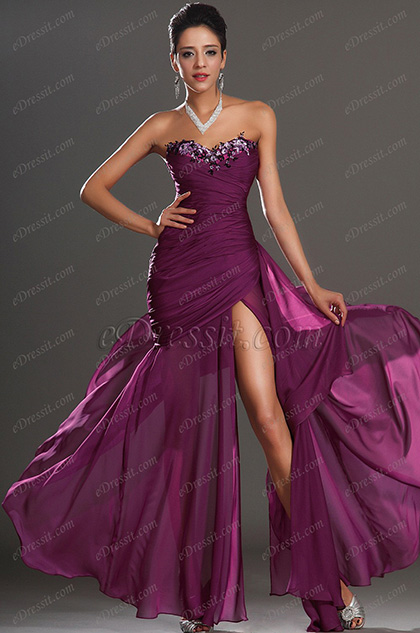 eDressit Formal Purple Strapless Evening Dress (00134706)
