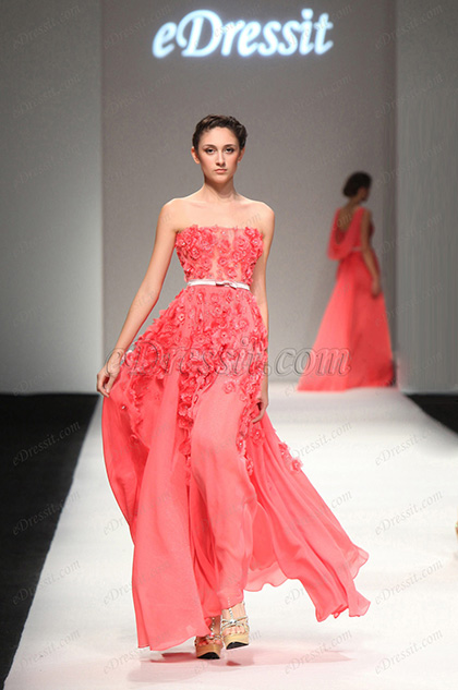 eDressit 2013 S/S Fashion Show Strapless Evening Dress Prom Gown (F00132257)