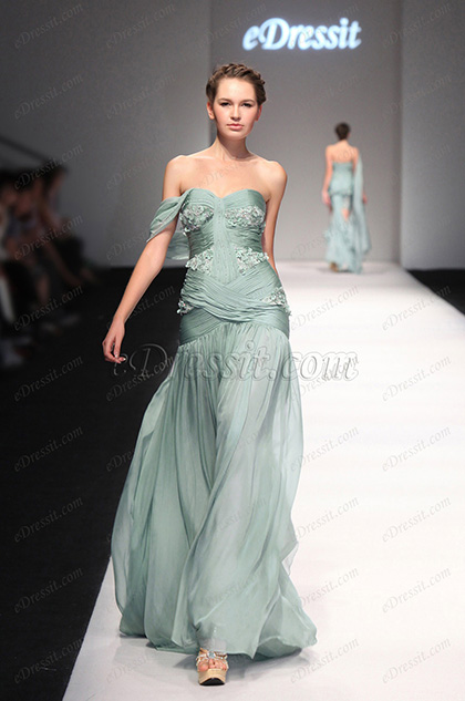 eDressit 2013 S/S Fashion Show Stylish One Shoulder Evening Dress Prom Gown (F00130204)